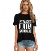 Tricou dama negru - Straight Outta Satu Mare