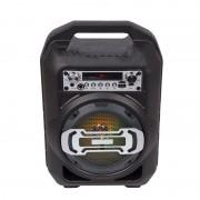 Hordozható hangszóró Bluetooth multimédia lejátszó akkumulátorral LED hangszóróval karaoke mikrofonnal Mp3,FM-Rádió, 3,5 jack, USB, Micro SD kártya - BS11