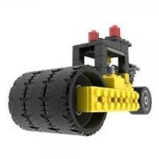 Road Roller Engineering Toy 70pcs Assembly Building Blocks, Compare To Knex Building Set, Build Your