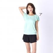 BENETTON(ベネトン)/接触冷感ラッシュTシャツ ショートパンツ付きセットアップ