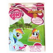My Little Pony Pop-Outz! Funny Faces Color and Play (Rainbow Dash) by Montco Craft