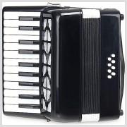 8-basový detský akordeón s prepravnou taškou CC Secondo čierny