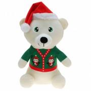 Bellatio Decorations Witte beren knuffelbeer 30 cm kerstknuffels speelgoed