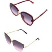 StyleArcs Rectangular Sunglasses(Violet, Pink)