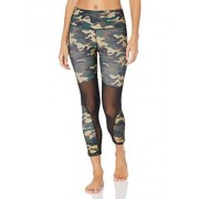 V.I.P. JEANS Leggings de Rendimiento para Mujer, Cintura Alta, Pantalones de Yoga de Malla para Atletismo, Clásico de Fatiga, S