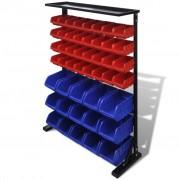 vidaXL Modro - červený garážový organizér na nářadí
