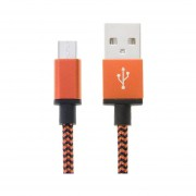 2m Tejida Estilo Micro USB A USB 2.0 Cable Datos / Cargador Para Samsung Galaxy S6 / S5 / S IV / Nota 5 / Nota 5 Borde, HTC, Sony (naranja)