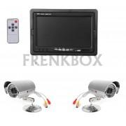 """Kit videosorveglianza monitor LCD 7"""" + 2 telecamere + cavi 20 metri"""