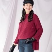 ANELA LUX 小顔・細見えのビッグニットプルオーバー【QVC】40代・50代レディースファッション