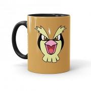 Caneca Porcelana Pokémon Pidgey Preta
