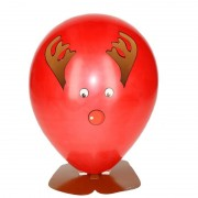 Merkloos Rendier ballon versieren 27 cm