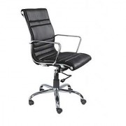 Mavi Black Executive Medium Back Chair-DMB-514