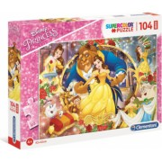 Puzzle Maxi Frumoasa si Bestia Printesele Disney Clementoni 104 piese