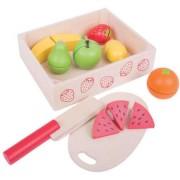 Set fructe feliate in cutie de lemn BigJigs 7 piese
