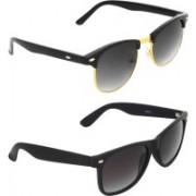 Zyaden Round, Wayfarer Sunglasses(Black)