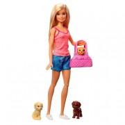 Barbie - Muñeca Rubia y sus Cachorros
