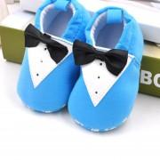 Zapatos De Bebé De Algodón Antideslizante Para Estudiar Andar - Traje Azul