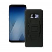 Funda Samsung A730 Galaxy A8 Plus 2018 Robot Uso Rudo Con Clip - Negro