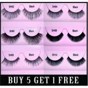 Buy GlamGals Stylish Eyelashes pair of 5 & Get 1 Eyelash Free