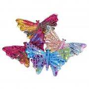 Nature Plush Planet Gekleurde vlinder assorti kleuren 12 cm