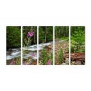 Set Tablouri Multicanvas 5 Piese Raul din Padure - 90 x 150 cm