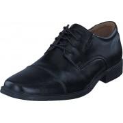 Clarks Tilden Cap Black Leather, Skor, Lågskor, Finskor, Svart, Herr, 43