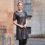 Wear House Klänning i svart konstskinn (Stl: S, M, L, XL, XXL, )