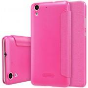 NILLKIN SPARKLE Series Huawei Honor 5A Frosted structuur horizontaal Flip lederen hoesje (hard roze)