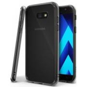 Protectie spate Ringke FUSION SMOKE BLACK pentru Samsung Galaxy A7 2017 + BONUS folie protectie display Ringke (Negru/Fumuriu)