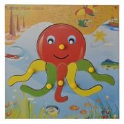 Skillofun Wooden Theme Puzzle Standard Octopus Knobs, Multi Color