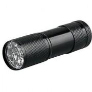 Mini Aluminum UV Ultra Violet 9 LED UV Flashlight Blacklight Torch Light Lamp