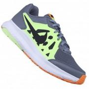 Nike Men'S Dart 11 Msl Grey Lime Green Black And White Running Shoes