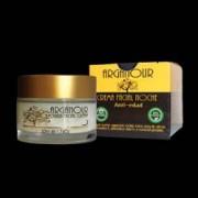 Crema de noapte antirid 7 agenti 100 naturali pe baza de ulei de argan ricin avocado nuca de cocos migdale unt shea