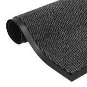 vidaXL Tapete controlo de pó retangular tufado 80x120 cm antracite