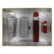 Perry Ellis 360 Red Eau De Toilette Spray + After Shave Balm + Deodorant Stick + Mini EDT Spray Gift Set 403256