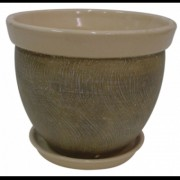 Ghiveci din ceramica pentru flori cu suport, 6124, MN019709, Feronya