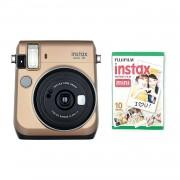 Fuji Instax Mini 70 Camera with 10 Shots Gold