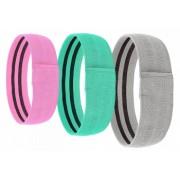 Set 3 benzi elastice din bumbac si latex pentru exercitii de fitness yoga pilates pentru muschii fesieri si coapse