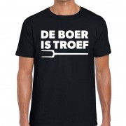 Bellatio Decorations De boer is troef festival t-shirt zwart heren