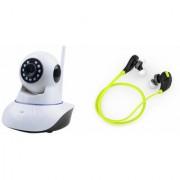 Zemini Wifi CCTV Camera and Jogger Bluetooth Headset for LG OPTIMUS L7 II(Wifi CCTV Camera with night vision |Jogger Bluetooth Headset With Mic )