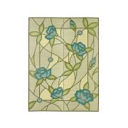 【59%OFF】国産い草ラグ 裏無し 三重織 オリヴィア 191x191cm/191x250cm ブルー 191x250 インテリア・家具 > 敷物~~ラグ