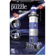 Puzzle 3D Farul noaptea, 216 piese Ravensburger