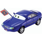 Disney/Pixar Cars Blue Race Fan with Piston Cup Flag Diecast Vehicle