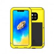 LOVE MEI Dust-proof Shock-proof Splash-proof Defender Back Casing for Huawei Mate 20 Pro - Yellow