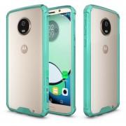 Para Motorola Moto G6 Plus Acrilico + TPU Resistente Armadura Protectora Transparente Volver Funda (verde)
