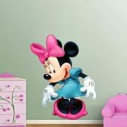EJA Art beautiful Minnie Mouse Wall Sticker (Material - PVC) (Pec - 1) With Free Set of 12 pec butterflies sticker