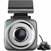 Camera auto Dubla DVR iUni Dash Q2 Plus Display Touchscreen 2 inch IPS Full HD Night Vision Senzor G by Anytek Bonus Bratara Roca Vulcanica unisex