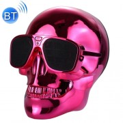 Sunglasses Skull Bluetooth Stereo Speaker for iPhone Samsung HTC Sony and other Smartphones (Red)