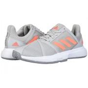 adidas CourtJam Bounce Grey TwoSignal CoralGrey Three