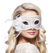 Oogmasker mystique kant wit